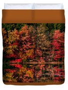 New England Fall Foliage Reflection Duvet Cover