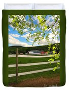New England Farm Duvet Cover by Catherine Reusch Daley