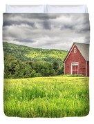 New England Farm Landscape Duvet Cover