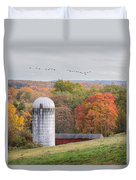 New England Fly Over Square Duvet Cover