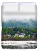Granville Ferry Nova Scotia Canada  Fog Lifting Duvet Cover