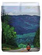 New England Journeys - Motorcycle 2 Duvet Cover