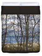 New England Massachusetts Beach  Scene Duvet Cover