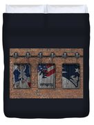 New England Patriots Brick Wall Duvet Cover