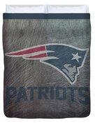 New England Patriots Translucent Steel Duvet Cover