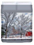 New England Winter Duvet Cover