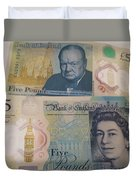 New Five Pound Notes Duvet Cover