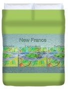 New France Mug Shot Duvet Cover