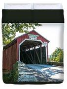New Germantown Covered Bridge Duvet Cover