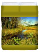 New Growth At The Pond Duvet Cover