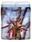 New Growth On A Shea Tree.  A Flower Duvet Cover