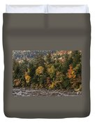 New Hampshire Color Along The Swift River Duvet Cover