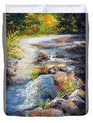 New Hampshire Creek In Fall Duvet Cover