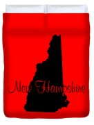 New Hampshire In Black Duvet Cover