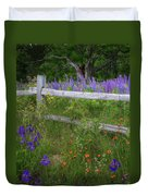 New Hampshire Wildflowers Duvet Cover