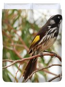 New Holland Honey-eater Duvet Cover