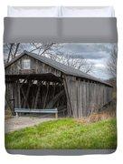 New Hope Covered Bridge  Duvet Cover