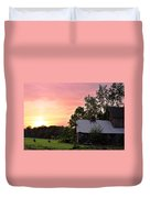 New Jersey Barn Sunset Duvet Cover