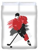 New Jersey Devils Player Shirt Duvet Cover