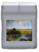 New Jersey Marsh Duvet Cover