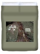 New Jersey New York State Line Of The Appalachian Trail Duvet Cover