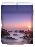 New Jersey Sunrise At Sea Girt Duvet Cover