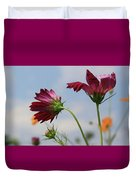 New Jersey Wildflowers In The Wind Duvet Cover