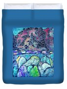 New Mexico Landscape Duvet Cover