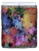 New Mexico Map Color Splatter 5 Duvet Cover
