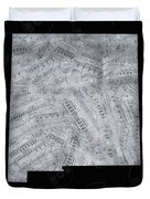 New Mexico Map Music Notes 2 Duvet Cover