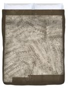 New Mexico Map Music Notes 3 Duvet Cover
