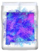 New Mexico Map Watercolor 2 Duvet Cover