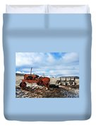 New Mexico Tractor Duvet Cover