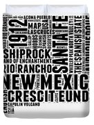 New Mexico Word Cloud Map 2 Duvet Cover