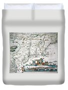 New Netherland Map Duvet Cover