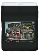 New Orleans Balconies No. 4 Duvet Cover