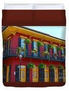 New Orleans Balcony Duvet Cover