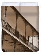 New Orleans Balcony With Lamp Duvet Cover