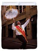 New Orleans Brass Band Leader Duvet Cover