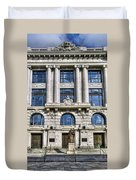 New Orleans Court Building Duvet Cover