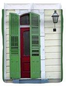 New Orleans Door 11 Duvet Cover