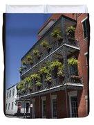 New Orleans French Quarter Duvet Cover