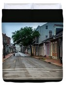 New Orleans French Quarter Special Morning Duvet Cover