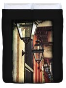 New Orleans Gas Lamps Duvet Cover