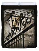 New Orleans Gaslight Duvet Cover by Beth Riser