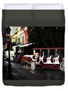 New Orleans Horse Carriage Duvet Cover