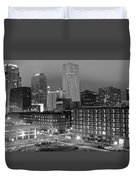 New Orleans In Black And Night Duvet Cover