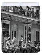 New Orleans Jazz 2 - Bw Duvet Cover