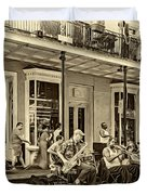 New Orleans Jazz 2 - Sepia Duvet Cover