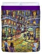 New Orleans Jazz Night By Prankearts Fine Art Duvet Cover